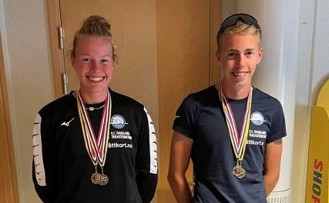 U18: Celine Helleren og Ivar Flikka Buch deltok begge i U18-klassen i nordisk mesterskap. Nå skal de snart til VM.