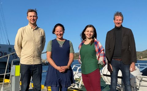 Henrik Dagfinrud (programsjef Bodø2024), Cecilia Persson (Teatersjef), Fransisca Kappfjell Herbst (Administrator) og André Wallann Larsen (Administrerende direktør Bodø2024)