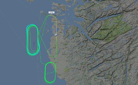 Flyet har sirklet over Rogaland i tre timer.