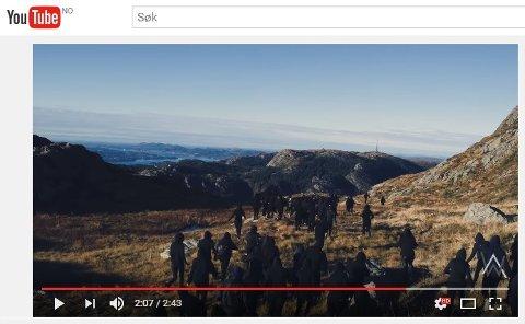 I Alan Walkers nye musikkvideo er det klipp innsendt fra fans og flere klipp fra bergenslandskapet. (Skjermdump: Youtube)