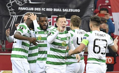 Celtic tapte 0-2 på bortebane mot Leipzig, men hjemme i Skottland er de meget sterke. Det vil tyskerne få merke i kveld, tror vi.  (AP Photo/Kerstin Joensson)