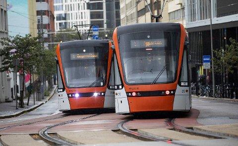 Det er en stor økning i antall reisende med Bybanen i 2018.