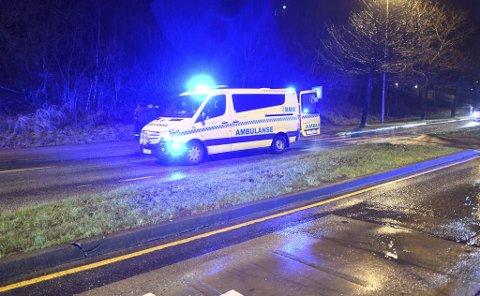 En kvinne ble påkjørt i et fotgjengerfelt i Fyllingsdalen torsdag kveld.