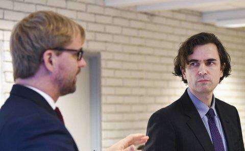 Byrådsleder Roger Valhammer og skolebyråd Endre Tvinnereim.