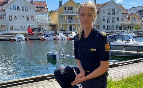 ADVARER: Liv Cecilie Omland, fungerende etterforskningsleder på Farsund og Lyngdal lensmannskontor.