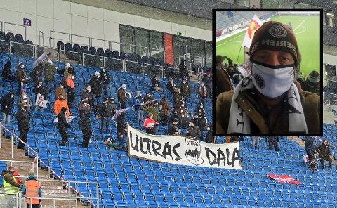 Flere supportere er på plass på Intility Arena for å støtte laget.
