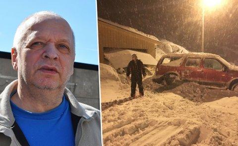 RASER: Steinar Olsen raser over at arbeidet med rassikring ikke er startet der han bor.