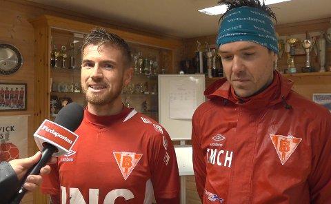Trenarteamet i Bremanger, Tore Rylandsholm og Tom Hem.