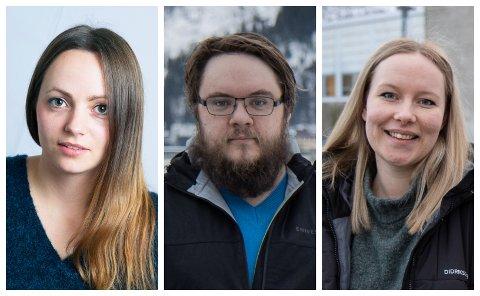 NYTTIG: Adalheidur Audardottir Oldeide, Marius Reiakvam og Katrine Bortheim er alle samde om at praksisen i Førde har vore nyttig for karrieren deira.