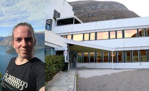 TIL SJUKEHUS: Michelle Tufte fekk seg ein tur til Lærdal sjukehus etter andre dose koronavaksine.