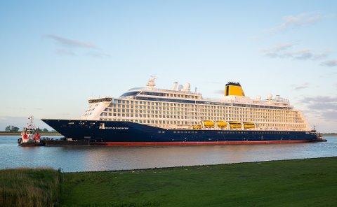 TIL OSLO: «Spirit of Discovery» skulle anløpe Fredrikstad på fredag, men nå er besøket avlyst. I stedet seiler skipet mot Oslo