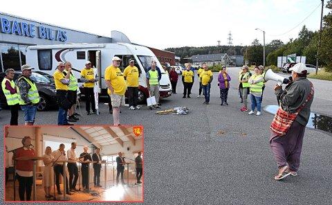 Etter å ha demonstrert mot bomringen ved Rolvsøyveien, dro demonstrantene videre til folkemøte på Lisleby. Der ble oppførselen deres et tema.
