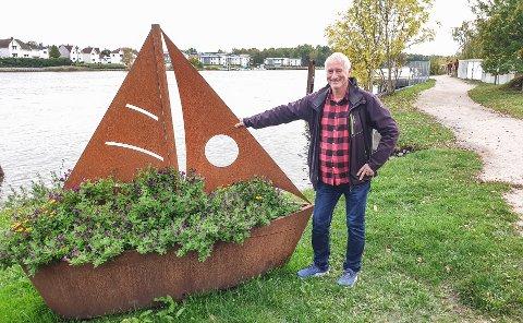 Roy Frantzen skal være guide under turen Lisleby rundt 17. oktober. Reisen starter ved fergeleiet på Nøklebystranda.