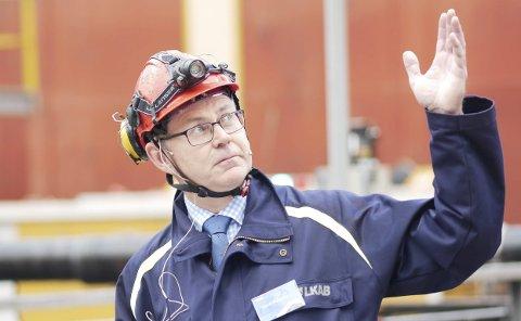 Sjef for LKAB Norge, Jacob Steinmo
