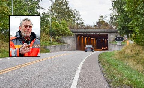 ÅPNET: Det vil fortsatt pågå noe nattarbeid i tunnelen, men nå er den erklært åpnet, sier Reidar Jørgensen i Statens vegvesen.