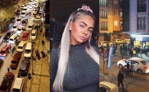 Desperasjon: I timene før lockdown ble innført ved midnatt i Tyrkia i går, var det fullstendig kaos i gatene.