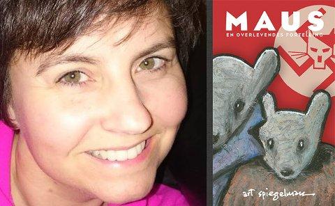 Bibliotekar Veronica Schevik anbefaler boken «Maus: En overlevendes fortelling» av Art Spiegelman. Boken er gitt ut på Minuskel forlag og er på 295 sider.