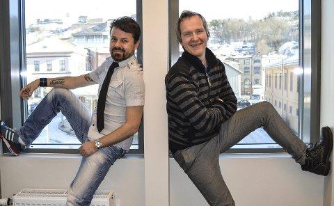 BADER I MUSIKK: Dag Brandth (t.v.) og Aasmund Kaldestad skal synge sammen for første gang under lørdagens musikkbad på Rød Herregård. Foto: Thomas Lilleby