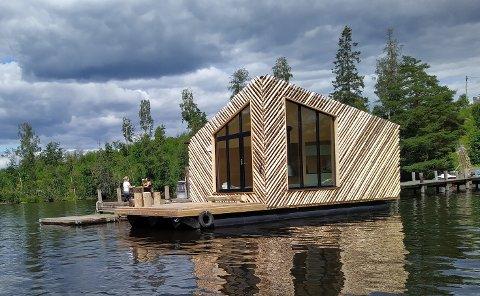 EN NATT PÅ KANALEN?: Denne hytta kan leies for overnatting på Haldenkanalen.