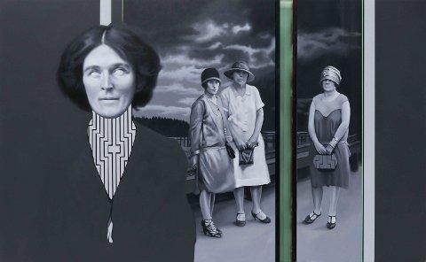 HISTORIE: Maleriet «Interventions VIII» av Kristian Evju.
