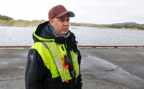 DELTAR AKTIVT: Tom-Inge Aksdal (31) fra Vestre-Bokn var kollega av avdøde Arvid Jøsang. Helt fra meldingen kom om forliset til «Jøsenbuen» lørdag formiddag har han deltatt i søket.