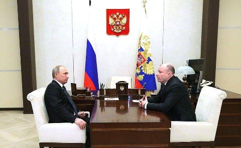 ALVORSPRAT: Nivået på produksjonen og de ansattes lønn, var blant tingene Russlands president Vladimir Putin spurte Norilsk Nikel-styrelederen om på tampen av fjoråret. Men aller først tok Putin opp forurensningen.