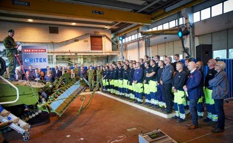 MILITÆR PRODUKSJON: Ritek AS på Rinnleiret har skal i samarbeid med tyske  FFGs  produksjonen av 42 kampstøttevogner til Forsvaret. Kontrakten kommer i tillegg til arbeidet med å oppgradere 20 stridsvogner av typen CV90.