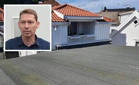INNSYN: Christian Hestenes vil bygge terrasse på taket til Chic-gården, rett ved siden av Tommy Olsens veranda i nabogården.
