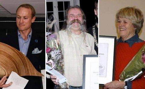 PRISVINNERE: Glenn Haslum fikk håndverkerprisen i 2018, mens Henning «Dose» Aabøe Bentsen og Else Bjørg Finstad fikk hver sin kulturpris i henholdsvis 2011 og 2012.