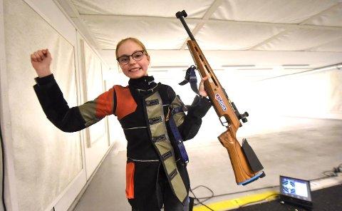 SUPERSERIE: Sara Kristine Havik Johnsen skjøt 350 poeng med 34 innertreff.