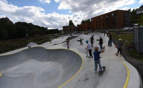 BER OM ORDEN: Rune Fredriksen ber brukerne av skateparken i Haspa rydde opp etter seg og ikke pisse i buskene der. Bildet er tatt ved en tidligere anledning.