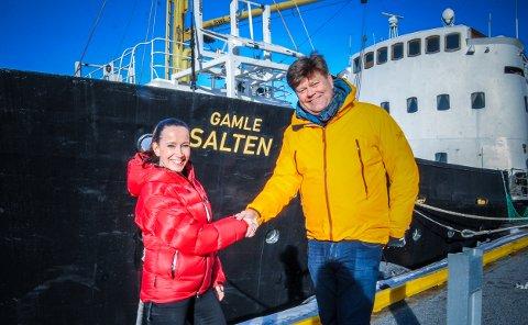 Administrerende direktør Morten Chr. Jakhelln og daglig leder Nina Kristine Madsen-Geelmuyden i Norwegian Adventure Company AS har funnet tonen og gleder seg over samarbeid.