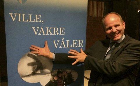 Høyt oppe: Reidar Kaabbel kunne natt til tirsdag juble over Senterpartiets usedvanlig gode valg i Våler.