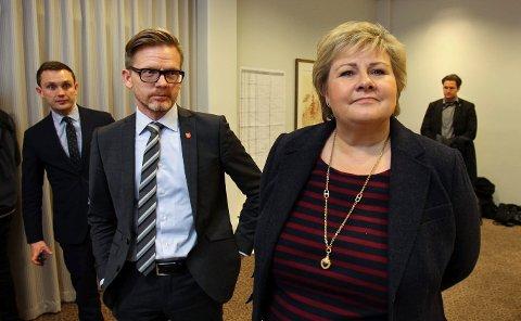 Statsminister Erna Solberg besøkte Østfoldkonferansen 2016.?Ordfører i Moss, Tage Pettersen.