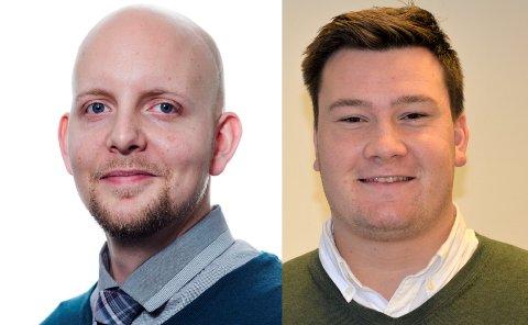 NYANSATTE: Øystein Eian (t.v.) og Martin Thorland Jutkvam har fått de to tidligere utlyste stillingene som faste journalister i Nordstrands Blad.
