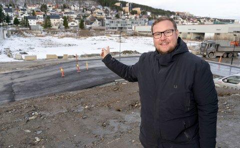 NY BYDEL: Høyres Erlend Svardal Bøe ønsker et idrettsanlegg på Esso-tomta ved Kræmer.