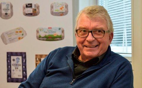 FANT EN NISJE: - Vi fant en nisje - dagsferske egg fra frittgående høner - som er etterspurt i markedet, sier Totenegg-gründer Ernst Ole Ruch.
