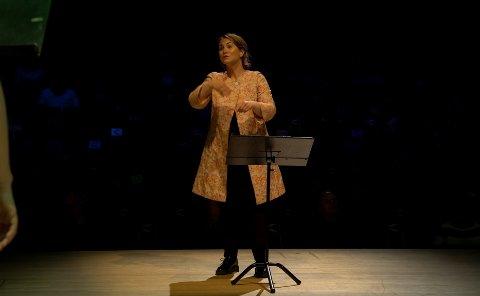 TIL MOLDEJAZZ: Den prisbelønte dirigenten Marit Tøndal Bodsberg Weyde tar med seg KSS til Molde denne lørdagen.