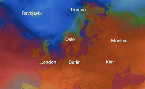 KALDERE: Uka begynner med ganske varme temperaturer før det gradvis vil bli kjøligere. I Sør-Norge vil man merke endringene først til helgen.