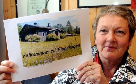 SKAL MARKEDSFØRES:Daglig leder i Finnskogen Natur&kulturpark, Herdis Bragelien, er glad for pengene over statsbudsjettet.  Nå skal Finnskogen markedsføres skikkelig.