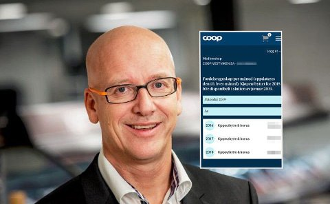 PUNGER UT: Geir Stokke, toppsjef i Coop, betaler ut rekordstort utbytte. Foto: Coop