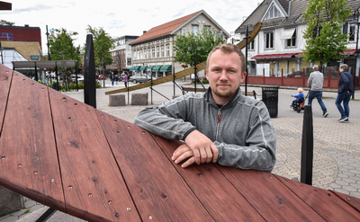 FOLKEFEST: Christian Eckbo håper at han og Sentrumsforeningen kan være med å lage litt liv under Elverumsdagene.