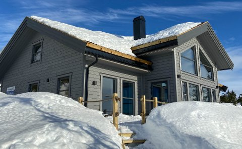 HETT MARKED: Hytta i Svaenlia kan sette ny prisrekord i  Løtenfjellet.
