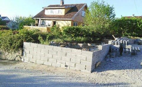 Fortettingsprosjektet i Flåttenlia har skapt mye problemer. Nå er det muren.