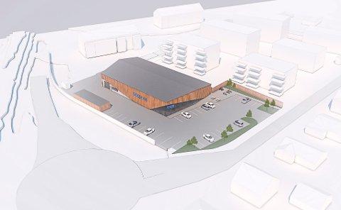 Dette er den nye Coop-butikken i Dr. Munks gate. Reguleringsplan er lagt fram til sluttbehandling.