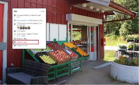 LEGGES NED? Matbutikken meldte selv i et Facebook-innlegg at butikken ville bli lagt ned i løpet av året. Når er fortsatt uvisst.