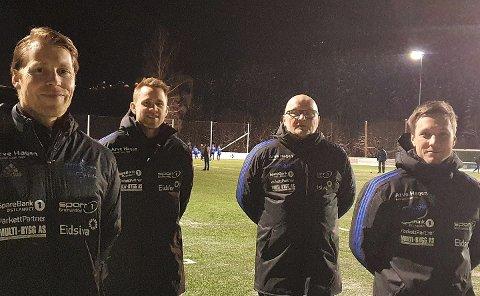 TRENERKVARTETT: Fra venstre: Vemund Brekke Skard, Rune Pettersen, Bjørn Karusbakken og Fredrik Haave Andersen.