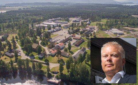 ENDRER INGENTING: Daglig leder Morten Pettersen i XPND jobber videre med Helgelandsmoen, også uten E16-kryss.