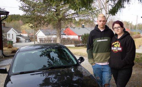 BEKYMRET: Jimmy Endre Brunstrøm Hokholt og samboer Trude Elisabeth Smedstuen.