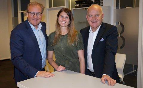 SPAREBANK 1 BV: Fra venstre: Administrerende direktør Rune Fjeldstad, fagleder kompetanse- og organisasjonsutvikling Stine Skinlo, og viseadministrerende direktør Geir Årstein Hansen.